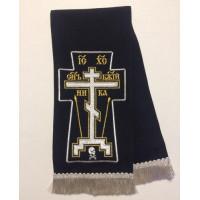 """Закладка для Евангелия  """"Крест Голгофа"""", цвет черный."""