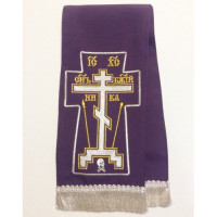 "Закладка для Евангелия  ""Крест Голгофа"", цвет фиолетовый"
